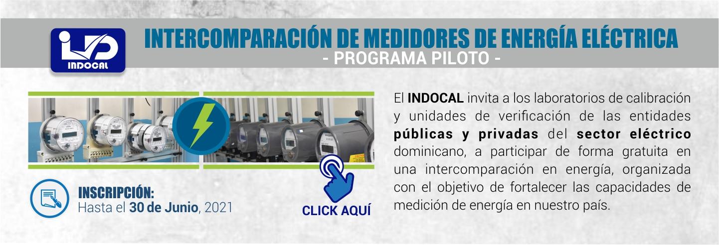 Banner Intercomparacion Energía Programa Piloto